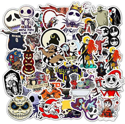 QIANGWEI Stickers 50 stuks Halloween Horror Series Skelett Mobile snowboard Notebook Bag Koelkastgitaar Graffiti Waterdicht