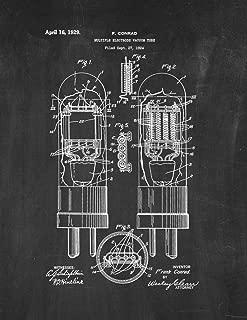 Multiple-Electrode Vacuum Tube Patent Print Chalkboard (18