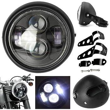 Motociclismo Negro Faro de Moto Soportes para 54-55mm Horquillas CNC