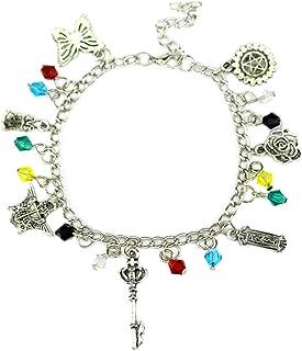 Black Butler Charm Bracelet Quality Cosplay Jewelry Anime Manga Series with Gift Box