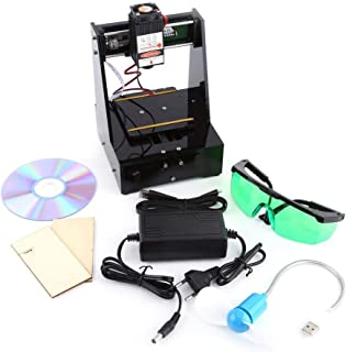 Laser Engraver, Laser Engraving Cutter Laser Engraving Machine 100-240V 2000MW USB Laser Engraving Printer with Protective Glasses, 7 × 7cm Mini Engraving Machine for win7, win8, win10, XP