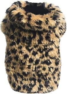 Lavany Pet Clothes, Cute Pet Dog Clothes Leopard Print Soft Warm Cotton Sweater Coat