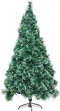 SLZFLSSHPK kerstboom tafelblad Kunstmatige Sneeuwvlok Kerstboom Pine Naald Boom Kunstmatige Kerstbomen met Stand Brandvert...