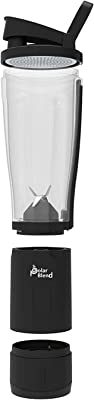 Polar Blend 24 oz. Cordless and USB Rechargeable Blender with Leak-proof Lid ideal for Shakes and Smoothies –Portable for Travel, Office, and Gym Use