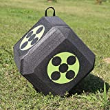 Whewer 3D Arrow Archery Target Cube 6-Sided 3D Cube Foam Target Reusable Self-Healing Broadhead Taget with Polyfusion Technology