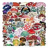 Mushroom Stickers| 50 PCS | Vinyl Waterproof Stickers for Laptop,Skateboard,Water Bottles,Computer,Phone,Guitar,Bat Stickers for Kids Adult (Mushroom Stickers)