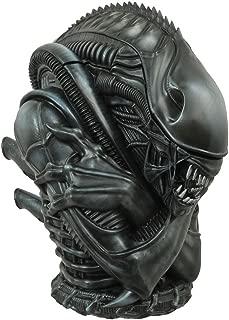[Cookie jar: alien 2 alien warrior height 46 cm painted pottery vessel