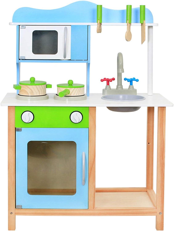 XCXDX Hlzerne Simulations-Multifunktionsküche, Kinder-Rollenspielzeug, Einfache DIY-Montage, Realistische Küchengerte