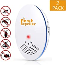 HOSOLO Ultrasonic Pest Repeller Plug in, Electronic Pest Reject for Insect - Mice, Mouse, Bed Bugs, Spiders, Mosquitoes, Roaches, Ants - No More Trap, Spray & Bait (2 Packs)