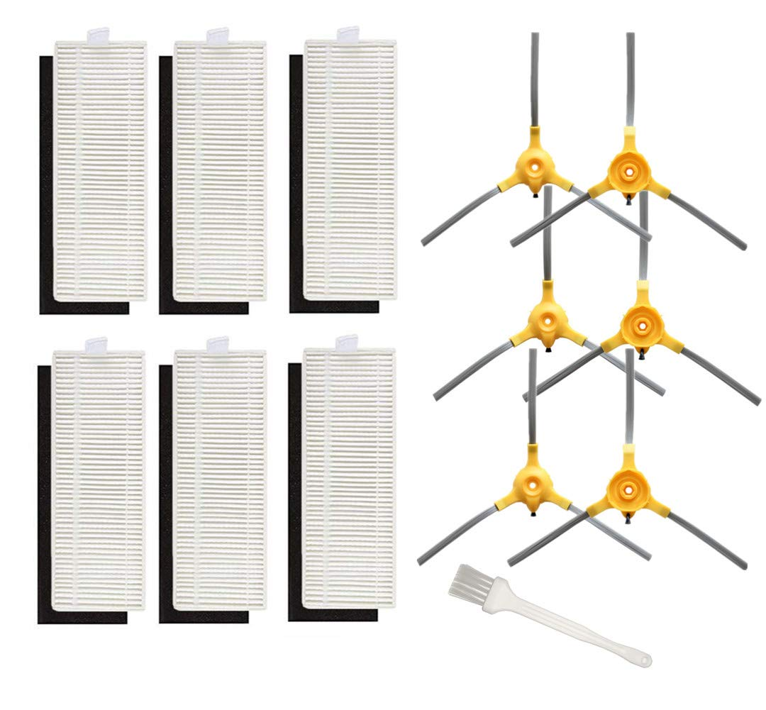 Sweet D Repuestos para Eufy Robovac 11+ Kit de Recambios para Aspiradora Eufy 11+, 6 Cepillos Laterales + 6 Hepa Filtros: Amazon.es: Hogar