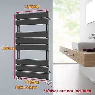 Toallero moderno para radiador de baño para sistemas de calefacción, panel plano, BTU 1232 antracita, 800 x 450 mm