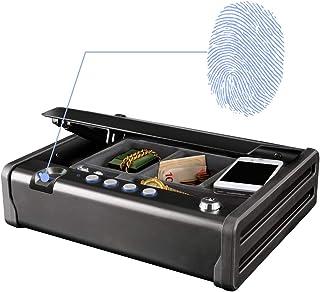 comprar comparacion MASTER LOCK Caja Fuerte Compacta Biométrica Apertura con Huella Dactilar y Combinación MLD08EB - Ideal para objetos de v...