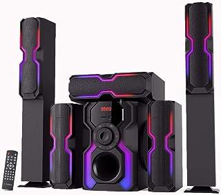 XZONE SMT1025 HOME THEaTER 5.1 HIGH END SPEaKER, USB, Bluetooth, aUX, RGB, BLaCK