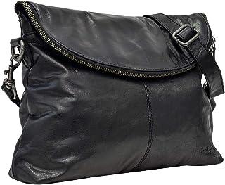 Gusti Handtasche Leder - Gardenia Umhängetasche Abendtasche Schwarz Leder