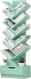 12 Niveaux Étagère Bibliothèque en Forme d'arbre avec Tiroir, Facile À Assembler Étagère De Rangement en Bois Créatif Meub...