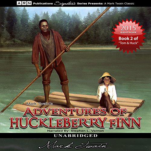 Adventures of Huckleberry Finn audiobook cover art
