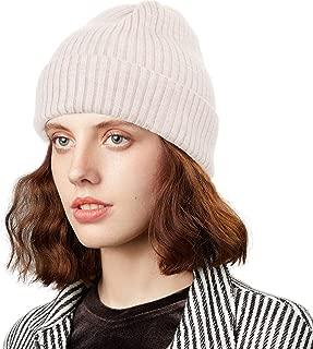 CRUOXIBB Heather Knit Beanie for Women & Men - Thick Soft Warm Winter Hat - Slouchy Wool Beanie