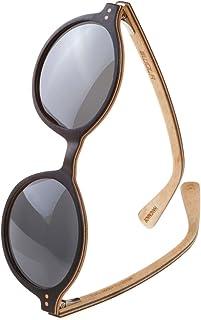 27d4caf16b WOLA redondas gafas de sol en madera HELIO bambú ò madera, estilo sunglasses  UV400 -
