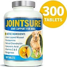 JOINTSURE condroprotector Perros| 300 Comprimidos | con mejillón de Labio Verde, glucosamina y condroitina Natural. | Este antiinflamatorio para Perros.