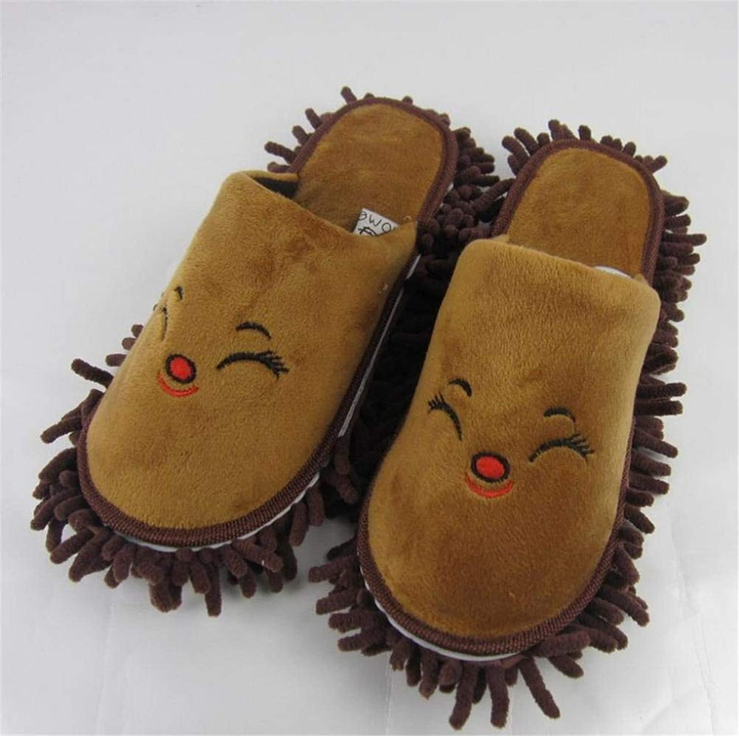 JaHGDU Women 's Home Cotton Slippers Indoor Keep Warm Casual Slippers Soild color Beige Brown Pink Personality Quality for Women