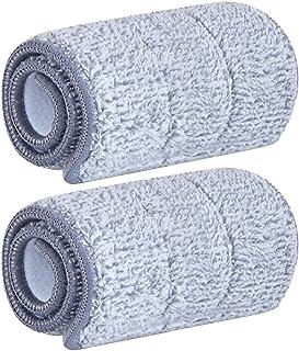 Perfk 2/4/6pcs Spray Flat Mop Refill Microfibre Floor Duster Cleaning Pad Cloths - 2pcs, 33x12cm