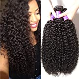 ALI JULIA Wholesale 3-Pack 10A Malaysian Virgin Curly Hair Weave Real Human Hair Weft Extensions Cheap Bundle Hair Products Natural Color 95-100g/pc (18 20 22 inch)