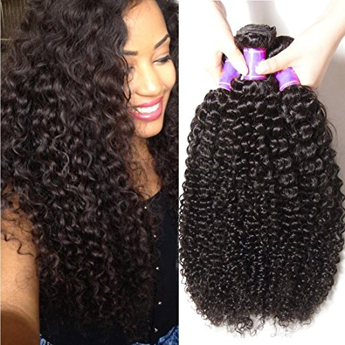 ALI JULIA Wholesale 3-Pack 10A Malaysian Virgin Curly Hair Weave Real Human Hair Weft Extensions Cheap Bundle Hair Products Natural Color 95-100g/pc (16 18 20 inch)