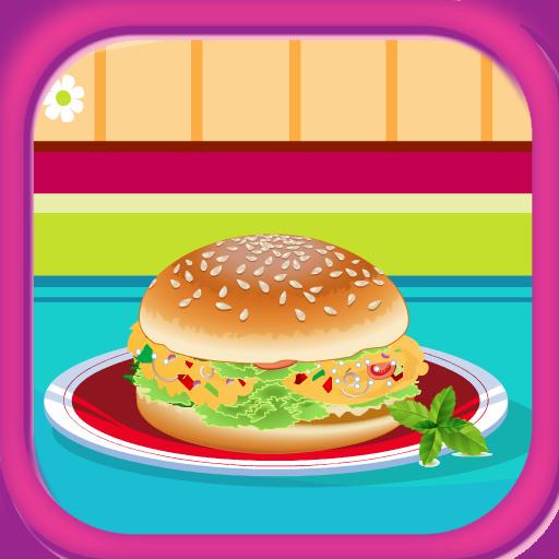 Hamburger di tonno gustosa cucina