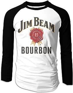 Men's Jim Beam Beer Raglan T-Shirt Long Sleeve Shirt