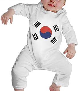 PMsunglasses Bodysuit North Korea Flag Jumpsuit Onesies Long Sleeve
