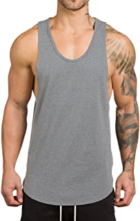 Magiftbox Men's Muscle Gym Workout Stringer Tank Tops Bodybuilding Fitness T-Shirts T01
