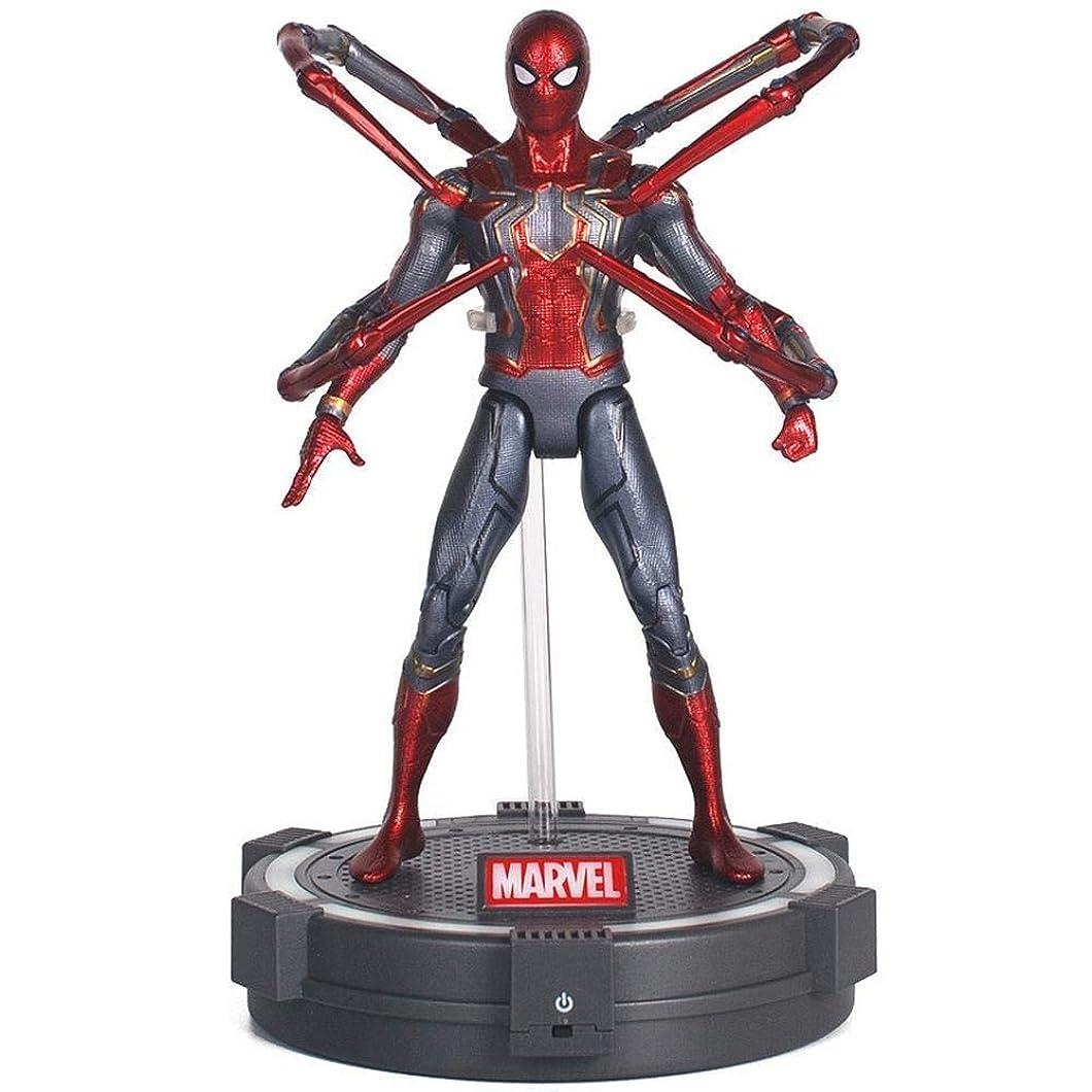 理想的マットレステクスチャーマーベルアベンジャーズタイタンヒーローシリーズ7インチスパイダーマンパワーFXフィギュア - 子供の誕生日プレゼントコレクションのためのライトベースとの共同可動アクションフィギュア (色 : Spiderman)