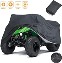 Indeedbuy Waterproof ATV Cover,Large Heavy Duty Black Protects 4 Wheeler From Snow Rain..