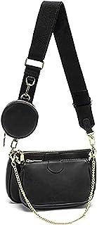 Mehrzweck Umhängetasche Damen Crossbody-Taschen Multi-Tasche 3-Teilig Geldbörse Reißverschluss Mode Handtaschen mit Münzbe...