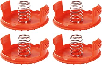 JEKEE Trimmer Replacement Spool Cap Covers and Spring for Black-Decker