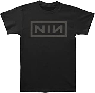 Men's Grey Logo On Black Slim Fit T-Shirt Black