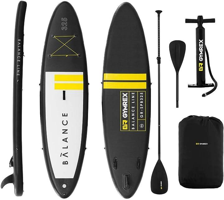 Tavola sup stand up paddle sup gonfiabile set tavola paddle tavole surf gonfiabili gymrex GR-SPB325