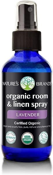Nature S Brands Herbal Choice Mari Organic Room Linen Spray Lavender 4floz Glass