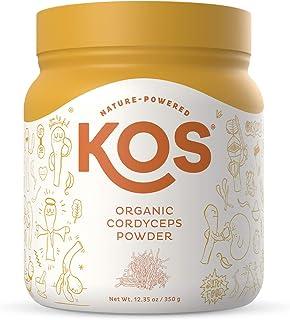 KOS Organic Cordyceps Powder - Potent, Dual-Extracted Cordyceps Mushroom Powder - Endurance & Energy Supplement, Immune Su...