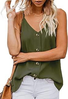 Women's Summer Sexy V Neck Casual Sleeveless Cami Tank Tops