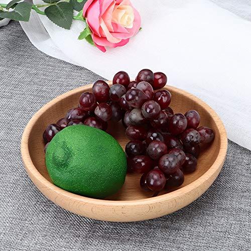 Vajilla de madera exquisita hecha a mano de la cena de la placa para la fruta para el té para el hogar