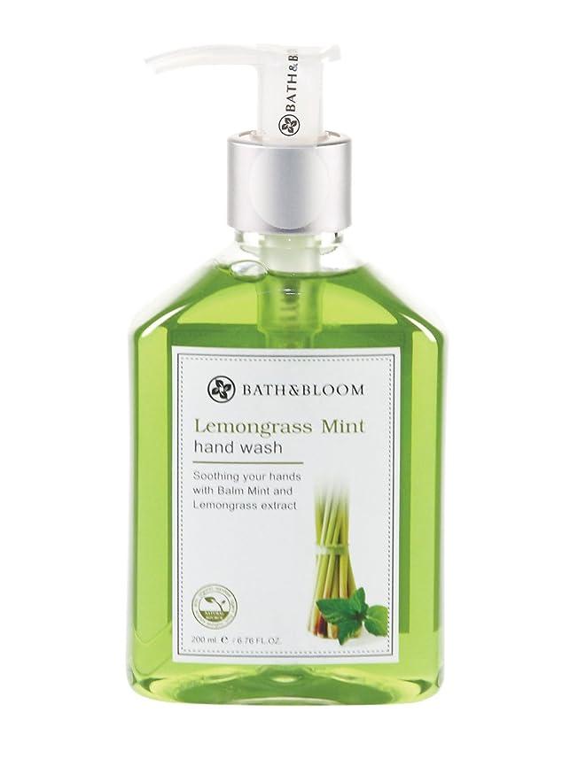 のスコアシンボル倫理BATH&BLOOM ハンドウォッシュ レモングラスミント 200mL