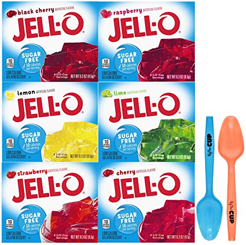 Jell-O Sugar Free Gelatin 0.3 Ounce, 6 Flavor Variety Pack