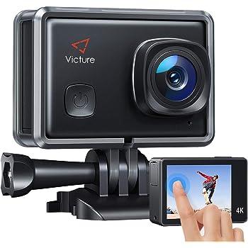 Victure AC900 Action Cam Echte 4K 20MP EIS WiFi Touchscreen Unterwasserkamera wasserdichte 30M Helmkamera mit 2 × 1350mAh Akkus