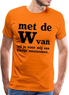 Spreadshirt Met De W Van Grappige Koningsdag Biertje Mannen Premium T-shirt
