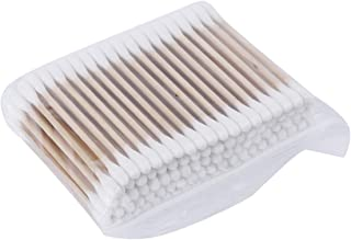 500PCS/SET Natural Cotton Swabs Double Head Wood Sticks Nose Ears Cleaning Cosmetics Health Care Cotton Buds