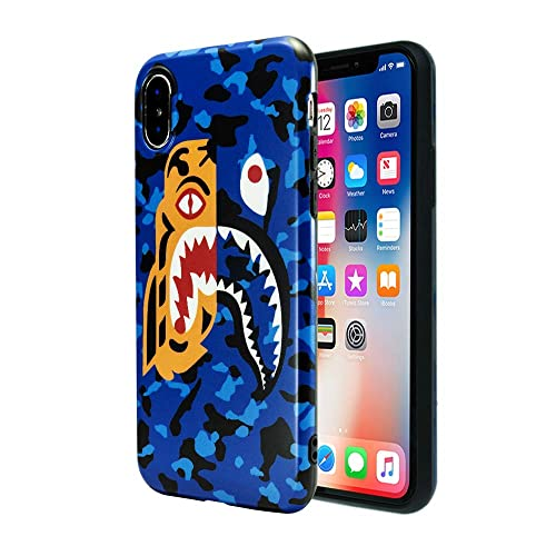 6bd7f769d Case for iPhone Xs Max 2018: Shark Face Case Street Fashion Luxury Flexible  Durable Designer