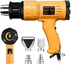 SEEKONE Heat Gun 1800W Heavy Duty Hot Air Gun Kit Variable Temperature Control with..