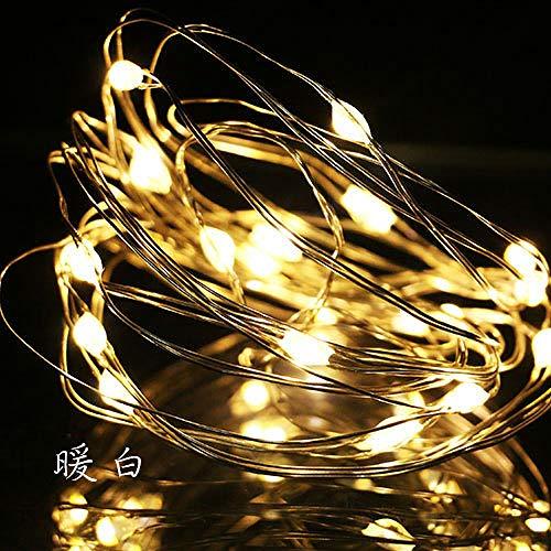 12 Stück LED Flaschenlicht, lichterkette, mit CR2032 knopfbatterie, DIY weihnachtsdekoration Warmes weiß 1 meter 10 lichter