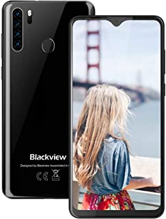 Blackview A80 Pro-6.49 inches Smartphone, 4GB RAM+64G ROM Unlocked Cell Phone with Quad Camera 13MP, 4680mAh Battery, 4G Global Version Dual SIM Phone, Fingerprint, Face ID - Black